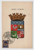 Algérie ORAN V° Foire 12 Octobre 1954 Sur N° Yv 269, CM Carte Maximum - Maximum Cards