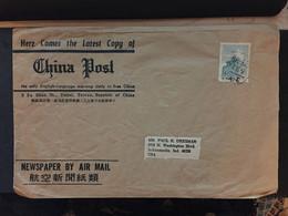 CHINA, Tai WAN, Letter Cover, Taiwan To USA, Rare, Beautiful, CINA, CHINE,  LIST 985 - Covers & Documents