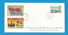 IN COMMEMORATION OF THE FIRST ANNIVERSARY OF INDEPENDANCE,1980. - Kiribati (1979-...)