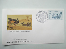 JOURNEE  DU  TIMBRE   14  MARS 1987    MONTPELLIER               TTB - Tag Der Briefmarke