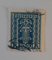N° 320       2000 K  Bleu  -  Symbole - Used Stamps