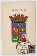 Algérie ORAN Oblitération La Ville Et Le Port 16 Décembre 1956 Sur N° Yv 269, CM Carte Maximum - Maximum Cards