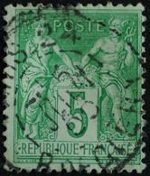-Sage N°106 Type II  Ob PARIS R DE CLERY  ( Bur 24 ) 1899. - 1876-1898 Sage (Type II)