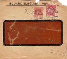 """Enveloppe Affranchie à 15 + 10 Heller. Obl. Tampon étoile à Wien 29/03/1918 + Tamponner """"Freigegeben"""". - Covers & Documents"""