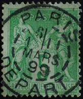 -Sage N°106 Type II  Ob PARIS DEPART 1899. - 1876-1898 Sage (Type II)