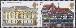 GRANDE-BRETAGNE, 1975, Architecture (Yvert 751 - 752 ) - Unused Stamps