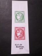 FRANCE 2020 CARNET 1527 Timbres CERES DE BORDEAUX, 5450/5453, Neuf**, MNH - Gedenkmarken