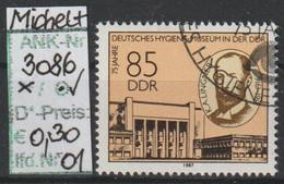 "1987 - DDR - SM ""75 Jahre Dt. Hygiene-Museum D. DDR"" 85 Pfg. Mehrf - O Gestempelt - S.Scan (3086o 01-03    Ddr) - Gebraucht"