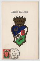 Algérie ALGER RP 9 Décembre 1957 FDC Sur N° Yv 337, CM Carte Maximum - Maximum Cards