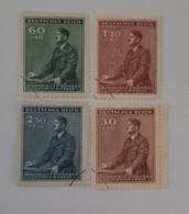 N° 73 à 76      53 Ans De Hitler  -  4 Valeurs - Gebraucht