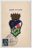 Algérie ALGER Journée Du Timbre 16 Mars 1957 Sur N° Yv 194, CM Carte Maximum - Maximum Cards