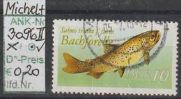"""1987 - DDR - SM """"Süßwasserfische - Naturschutz"""" 10 Pfg. Mehrf - O Gestempelt - S.Scan (3096oII    Ddr) - Gebraucht"""