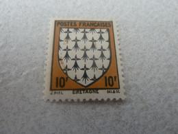 Bretagne - Armoirie De Province - 10f. - Noir Et Jaune-brun - Neuf Avec Trace De Charnière - Année 1943 - - Unused Stamps