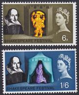 GRANDE-BRETAGNE, 1964, Shakespeare (Yvert 383 - 385 ) - Unused Stamps