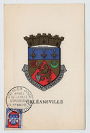 Algérie ORLEANSVILLE  FDC Armoiries 1 Mars 1958 Sur N° Yv 337D, CM Carte Maximum - Maximum Cards
