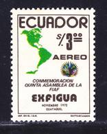 EQUATEUR AERIENS N°  582 ** MNH Neuf Sans Charnière, TB (D9657) Exfigua - 1974 - Ecuador