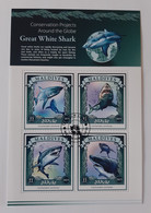 N° 4921 à 4924      Le Grand Requin Blanc  -  Oblitérés - Maldiven (1965-...)