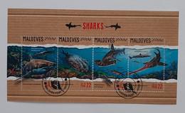 N° 6030 à 6033      Les Requins  -  Oblitérés - Maldiven (1965-...)