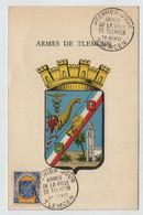 Algérie TLEMCEN  FDC Armoiries 29 Juin 1957 Sur N° Yv 337C, CM Carte Maximum - Maximum Cards
