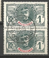 MAURITANIE PAIRE DE N° 1 CACHET BOGHE - Used Stamps