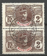 MAURITANIE PAIRE DE N° 2 CACHET BOGHE - Used Stamps
