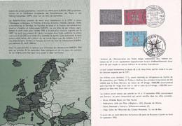Feuillet Poste FDC 1260 1261 Europa Salon Gent - Briefe U. Dokumente