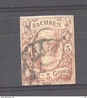 Allemagne  -  Saxe  :  Yv  11a  (o)  Rougebrun Foncé  ,     N2 - Sachsen