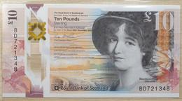 UK Scotland 10 Pounds 2016 UNC  P- 371a Polymer < Royal Bank > - 10 Pounds