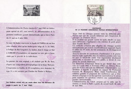 Feuillet Poste FDC 1250 Centenaire De La 1ère Conférence Postale Internationale - Briefe U. Dokumente