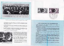 Feuillet Poste FDC 1333 Télécommunications U.I.T. - Briefe U. Dokumente