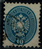 AUSTRIA  1863 DOUBLE EAGLE MI No 33 USED VF!! - Used Stamps