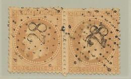France Etoile 28 / Paire YT 28B - 1863-1870 Napoléon III. Laure