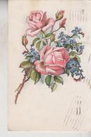 FIORI  FLOWERS  MAZZO DI ROSE  VG 1940 - Flowers