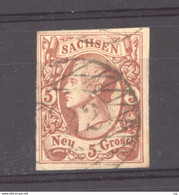 Allemagne  -  Saxe  :  Mi. 12  (o) Faux Ancien - Sachsen