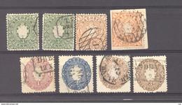 Allemagne  -  Saxe  :  Yv  13-17 (o)  Avec Les Variétés De Couleur - Sachsen