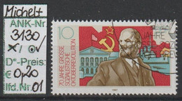 "1987 - DDR - SM ""70. Jahrestag D. Oktoberrevolution"" 10 Pfg. Mehrf - O Gestempelt - S.Scan (3130o 01-02    Ddr) - Gebraucht"