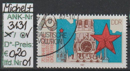 "1987 - DDR - SM ""70. Jahrestag D. Oktoberrevolution"" 20 Pfg. Mehrf - O Gestempelt - S.Scan (3131o 01-03    Ddr) - Gebraucht"