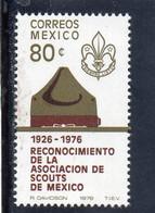 MEN - 1976 Messico - Scoutismo In Messico - Unused Stamps