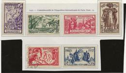 DAHOMEY N° 103 A 108 NEUF CHARNIERE SAUF 107 OBLITERE ANNEE 1937 - COTE :14,50 € - Unused Stamps