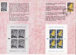 Feuillet Poste FDC 1242 Bloc 1241 Bourdon De La Paix Grote Vredesklok - Briefe U. Dokumente