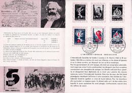 Feuillet Poste FDC 1290 à 1292 Internationale Socialiste - Briefe U. Dokumente
