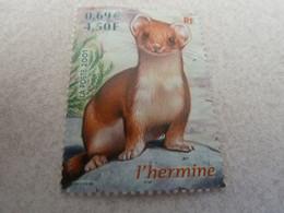 Hermine - Animaux Des Bois - Faune - 4f.50 (0.69€) - Multicolore - Neuf Sans Charnière - Année 2001 - - Gebraucht