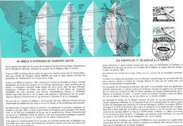 Feuillet Poste FDC 1259 Caravelle Sabena Aviation Avion Airplane Aircraft - Briefe U. Dokumente