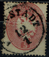 AUSTRIA  1863 DOUBLE EAGLE MI No 26 USED VF!! - Used Stamps