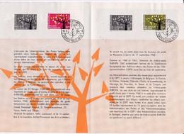 Feuillet Poste FDC 1222 1223 Europa - Briefe U. Dokumente