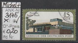 """1988 - DDR - SM """"Gebäude D. Deutschen Post"""" 15 Pfg. Mehrf - O Gestempelt - S.Scan (3145o     Ddr) - Gebraucht"""