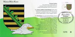 42161. Tarjeta DRESDEN (Alemania Federal) 1993. Landerwappen SACHSEN - Briefe U. Dokumente
