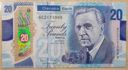 UK N. Ireland 20 Pounds 2019 UNC  P- New Polymer (Danske Bank) - 20 Pounds