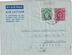 ZANZIBAR 1954    ENTIER POSTAL/GANZSACHE/POSTAL STATIONERY PLI AERIEN - Zanzibar (...-1963)
