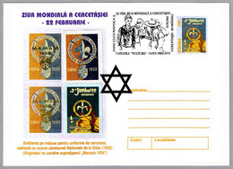 DIA MUNDIAL SCOUT - WORLD SCOUT DAY. Cluj Napoca 2001 - Covers & Documents
